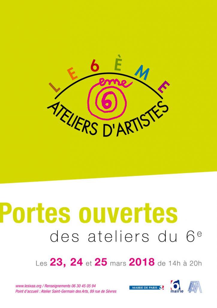 Affiche des portes ouvertes des ateliers d'artistes du 6e à Paris